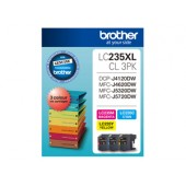 Brother LC235XLCL3PK CMY Colour High Yield Ink Cartridge (Triple Pack)