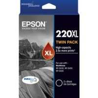 Epson 220XL Black Twin Pack  DuraBrite Ink Cartridge