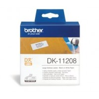 Brother DK11208 400 Large Address Labels 38mm x 90mm