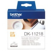 Brother DK11218 1000 Round Labels 24mm x 24mm