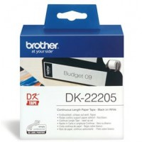 Brother DK22205 Continuous Length Paper Label Tape 62mm x 30.48m