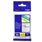 Brother TZe-141 18mm x 8m Black on Clear Tape