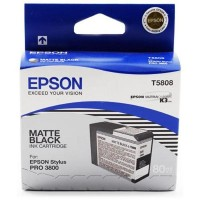 Epson T5808 UltraChrome Ink Cartridge - Matte Black