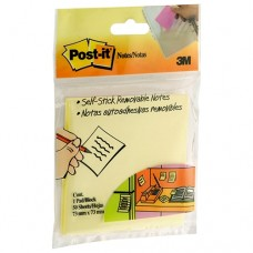 3m Post It Notes Hangsell 73x73mm Yellow 50 Sheets 654-hb