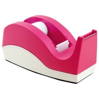 Dixon Tape Dispenser Pink And White Small 33m