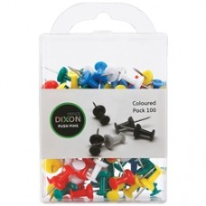 Dixon Push Pins Coloured Box 100
