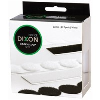 Dixon Spot Hook & Loop 22mm White Pkt 62