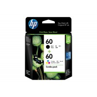 HP 60 Black + Tri-Colour Ink Cartridge Combo Pack
