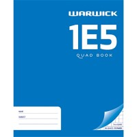 Warwick 1E5 Exercise Book 7mm Quad 255 x 205mm 36lf