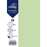 ENVELOPE C6 GREEN 114X162MM PACK 25