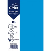 ENVELOPE C6 BLUE 114X162MM PACK 25