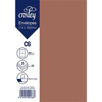 ENVELOPE C6 COPPER 114X162MM PACK 25