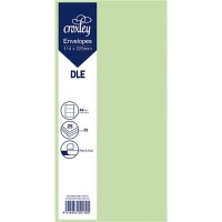 ENVELOPE DLE GREEN 114X225MM PACK 25