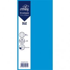 ENVELOPE DLE BLUE 114X225MM PACK 25