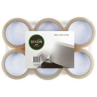 DIXON TAPE PACKAGING CLEAR 48MMX50M 6 PACK