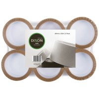 DIXON TAPE PACKAGING TAN 48MMX50M 6 PACK