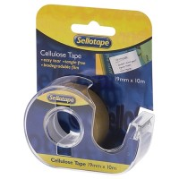 SELLOTAPE DISPENSER CELLULOSE 19MMX10M