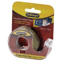 SELLOTAPE DISPENSER DOUBLE SIDED 12MMX7.5MM