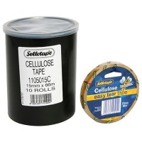 SELLOTAPE CELLULOSE CLEAR 15MM X66M